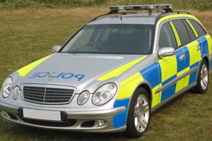 police car Vehicle Reflective Markings - Bluelite Graphics Ltd