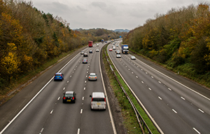 uninsured drivers on a motorway