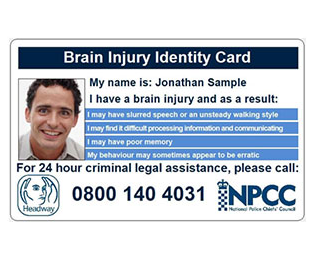 The Headway brain injury ID card